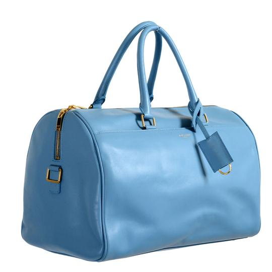 Preload https://img-static.tradesy.com/item/21544462/saint-laurent-duffle-women-s-calfskin-classic-12-blue-leather-suede-leather-tote-0-0-540-540.jpg
