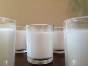 Pottery Barn White 9 Filled Glass (White) Votive/Candle