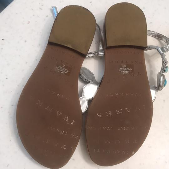Ivanka Trump Turquoise and silver Sandals