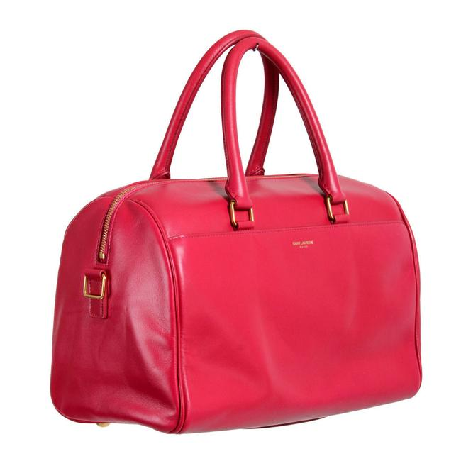Item - Duffle Women's Calfskin Classic 6 Fuxia Pink Leather / Suede Leather Tote