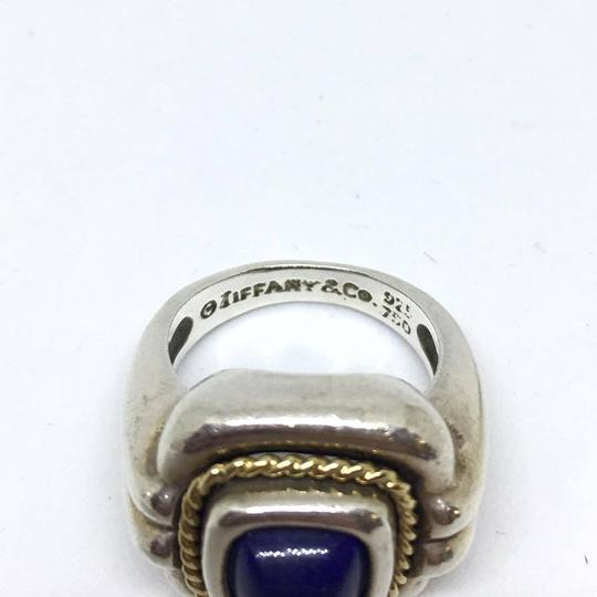Tiffany & Co. Tiffany & Co. Blue Lapis Ring Sterling Silver with 18k Yellow Gold