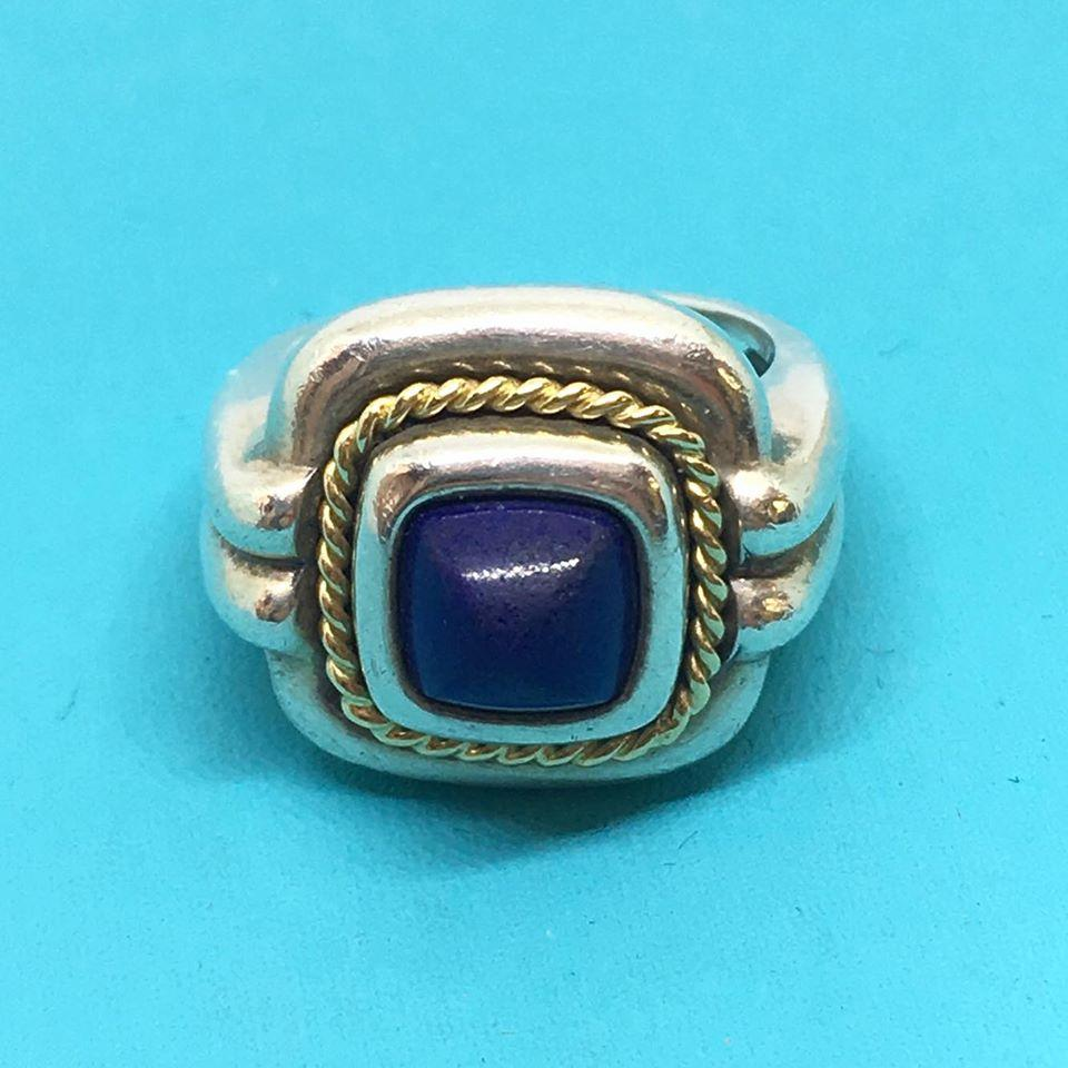 8a56354b6 Tiffany & Co. Blue Lapis Ring Sterling Silver with 18k Yellow.  123456789101112