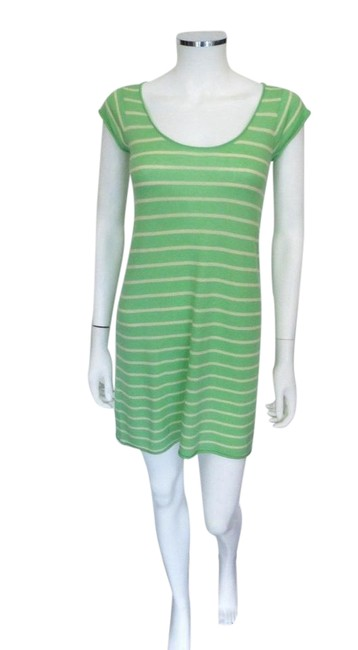 Preload https://item2.tradesy.com/images/calypso-st-barth-green-and-ivory-stripe-christiane-celle-cashmere-xs-mid-length-short-casual-dress-s-21544666-0-1.jpg?width=400&height=650