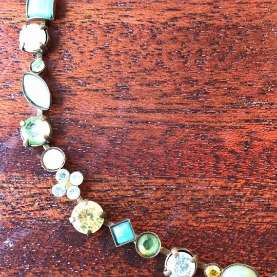 Sorrelli crystal statement in-bloom necklace with matching earrings