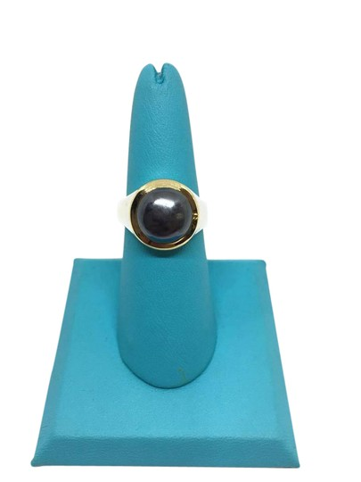 Preload https://item5.tradesy.com/images/tiffany-and-co-sterling-silver18k-yellow-gold-hematite-and-ring-21544739-0-1.jpg?width=440&height=440