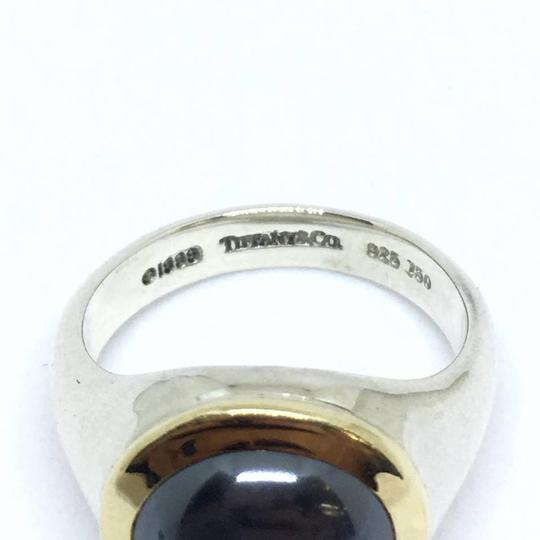 Tiffany & Co. Tiffany & Co. Hematite Ring Sterling Silver and 18k Yellow Gold