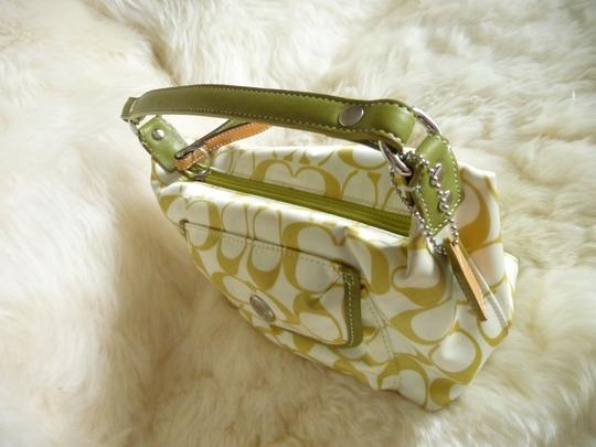 Coach Tote in Green and White