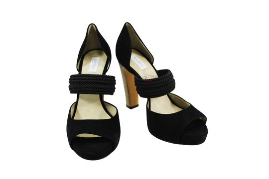 Max Mara Open Toe Women Heels Black Pumps