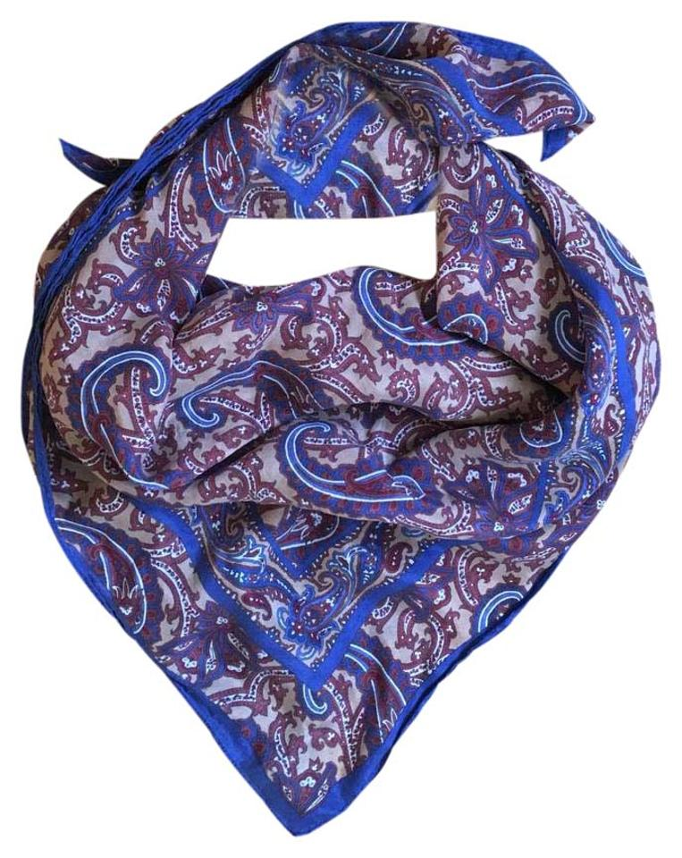 ab8f83c71a Madewell Blue Tan Rust White Vintage Paisley Silk Scarf/Wrap 48% off retail