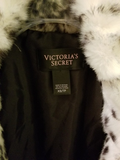 Victoria's Secret Faux Fur Fur Dalmation Winter Coat
