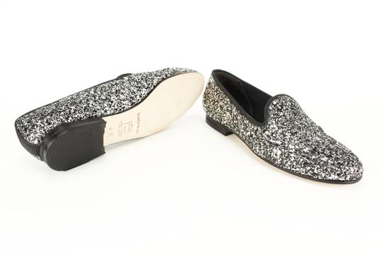 Ramon Tenza Glitter Sparkle Loafers Slip On Silver Flats