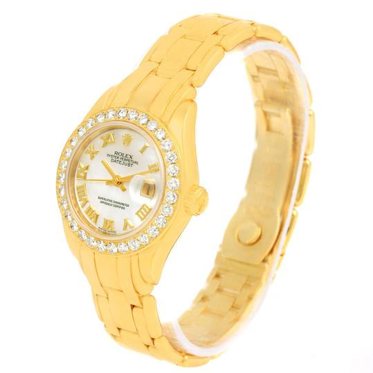 Rolex Rolex Pearlmaster 18K Yellow Gold MOP Diamond Ladies Watch 69298