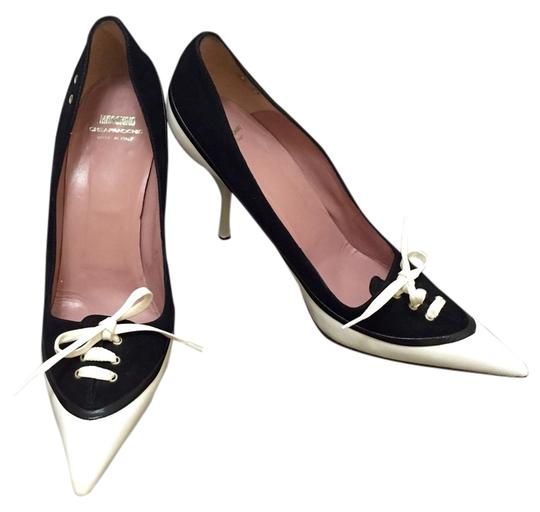 Moschino And Black White Pumps