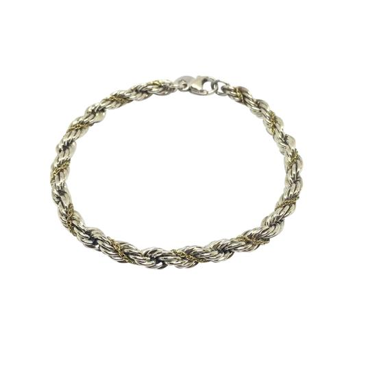 Preload https://img-static.tradesy.com/item/21545034/tiffany-and-co-sterling-silver14k-yellow-gold-twist-rope-and-bracelet-0-1-540-540.jpg