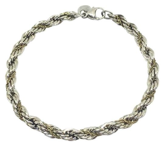 Tiffany & Co. Tiffany & Co. Twist Rope Bracelet Sterling Silver and 14k Yellow Gold