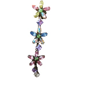 Sorrelli crystal pierced floral earrings