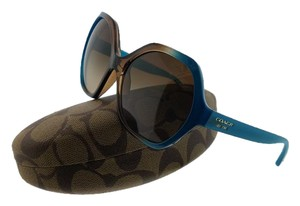 74af0ca0a5f5 Coach HC8065-513313 Women's Teal Frame Brown Lens Genuine Sunglasses