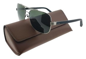 Coach HC7022-912171 Bleecker Women's Silver Frame Green Lens Sunglasses