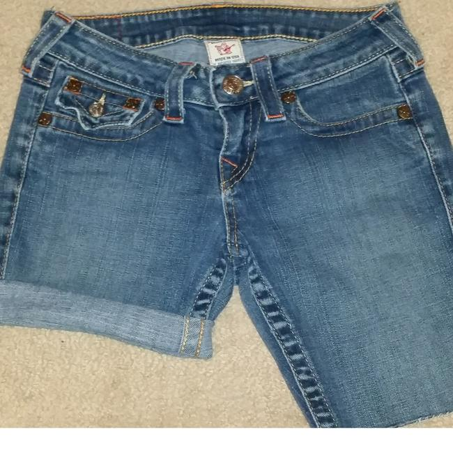 True Religion Denim Shorts-Medium Wash