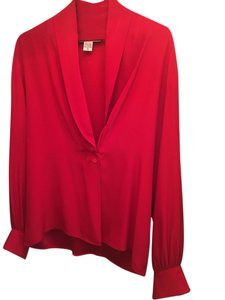 Saks Fifth Avenue Silk Top Red