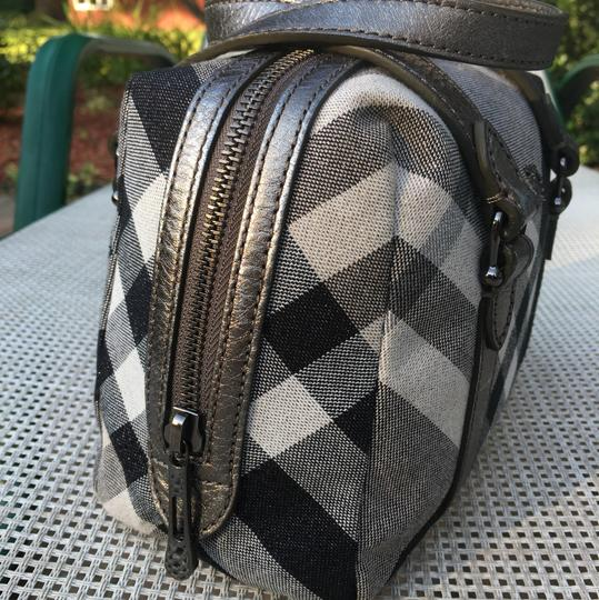 Burberry Satchel in Silver Gray/Black