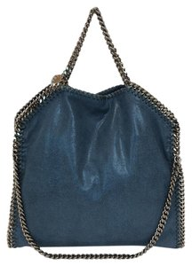 Preload https://item4.tradesy.com/images/stella-mccartney-falabella-shaggy-deer-fold-over-teal-faux-leather-tote-21545228-0-3.jpg?width=440&height=440