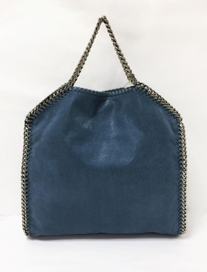Stella McCartney Faux Leather Convertible Falabella Shaggy Deer Tote in Teal