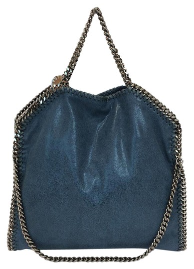 Preload https://img-static.tradesy.com/item/21545228/stella-mccartney-falabella-shaggy-deer-fold-over-teal-faux-leather-tote-0-3-540-540.jpg