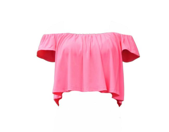 Preload https://item4.tradesy.com/images/susana-monaco-pink-off-shoulder-sweaterpullover-size-8-m-21545258-0-0.jpg?width=400&height=650