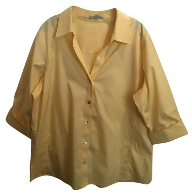 Preload https://item3.tradesy.com/images/foxcroft-yellow-shirt-button-down-top-size-16-xl-plus-0x-21545272-0-4.jpg?width=400&height=650