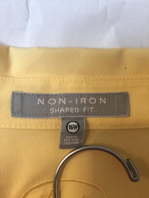 Foxcroft Shirt Broadcloth Button Down Shirt Yellow