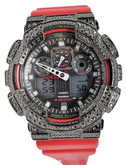 Preload https://item5.tradesy.com/images/black-steel-mens-red-xl-ga-100-simulated-diamond-55-ct-watch-21545309-0-1.jpg?width=440&height=440