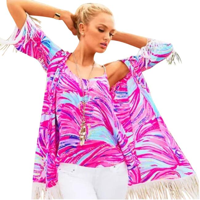 Preload https://item3.tradesy.com/images/lilly-pulitzer-pink-kimono-cover-upsarong-size-8-m-21545322-0-3.jpg?width=400&height=650