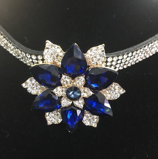 Unbranded Rhinestone Choker with Blue Stone