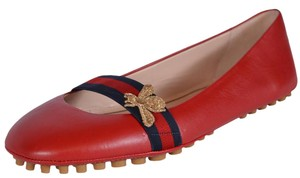 Gucci Bee Red Flats