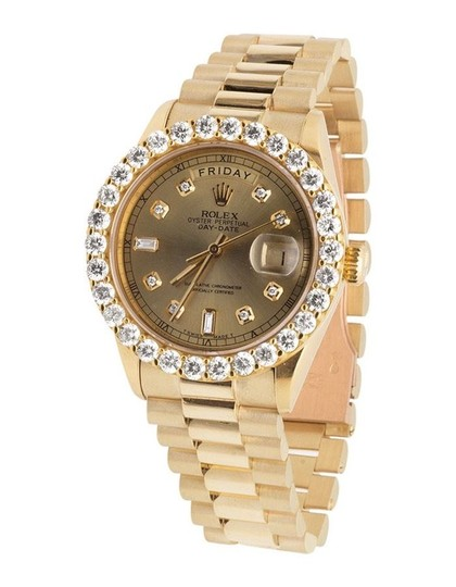 Preload https://item3.tradesy.com/images/rolex-yellow-gold-18k-mens-president-day-date-36mm-diamond-55ct-watch-21545412-0-0.jpg?width=440&height=440
