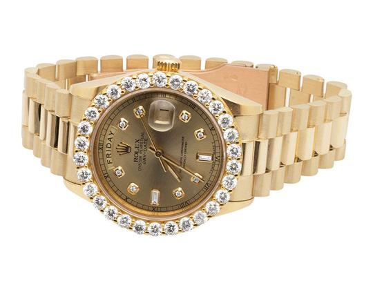 Rolex 18K Mens Yellow Gold Rolex President Day-Date 36MM Diamond Watch 5.5Ct