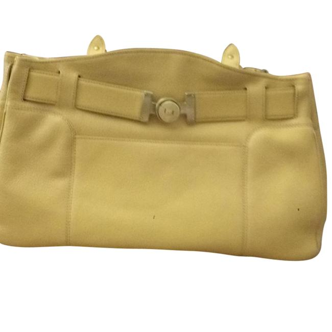 Item - Large Shopper Pale Yellow Jasmine Leather Tote