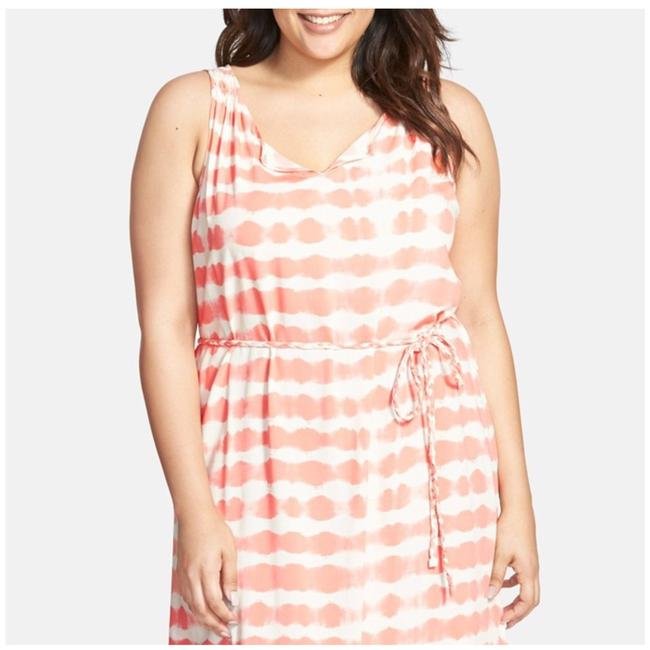 Coral & White Maxi Dress by Vince Camuto