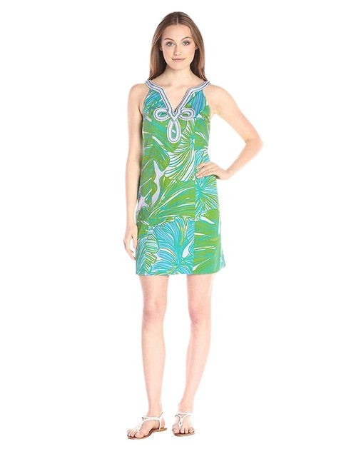 Preload https://item4.tradesy.com/images/lilly-pulitzer-green-sheen-fronds-placed-tessa-shift-20055-new-short-cocktail-dress-size-8-m-21545538-0-1.jpg?width=400&height=650