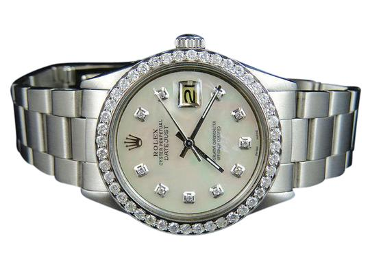 Preload https://item1.tradesy.com/images/rolex-stainless-steel-mens-36mm-mop-dial-diamond-25-ct-watch-21545540-0-1.jpg?width=440&height=440