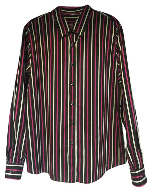 Preload https://img-static.tradesy.com/item/21545563/foxcroft-black-with-fuchsia-and-white-stripes-button-down-top-size-16-xl-plus-0x-0-3-650-650.jpg