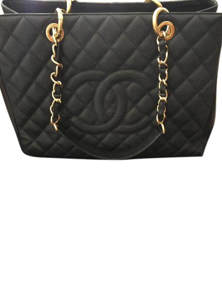 71e7e170c0080b Chanel Timeless Bag Caviar Gold Gst - Large Quilted Cc Logo Chain ...