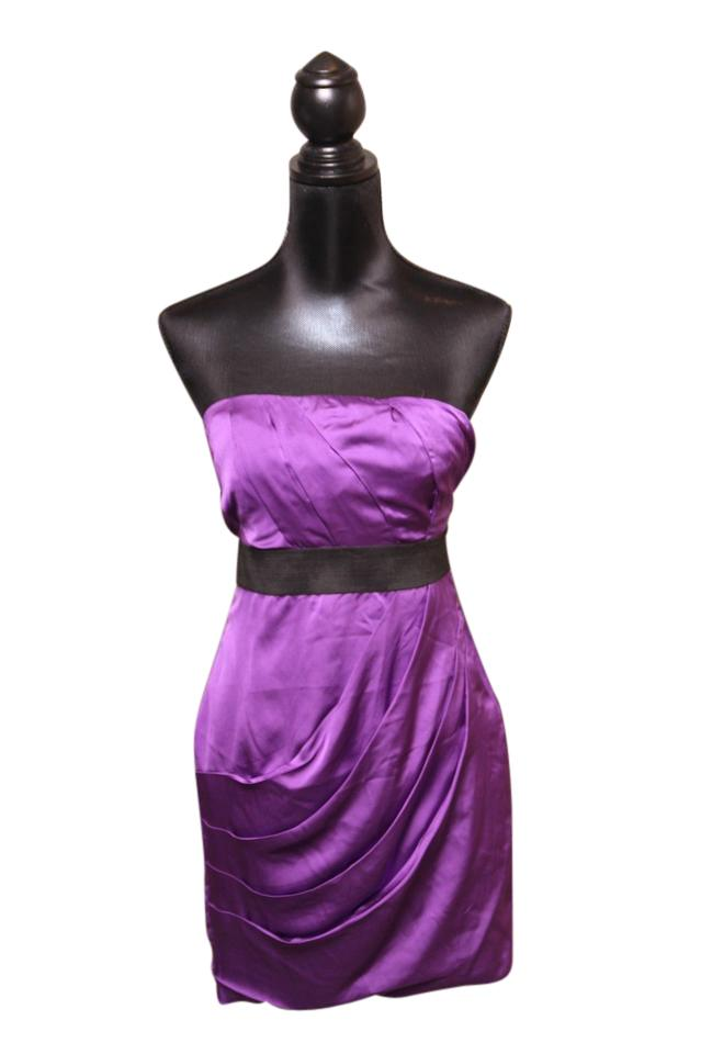 Express Purple - Strapless Party Short Cocktail Dress Size 2 (XS ...