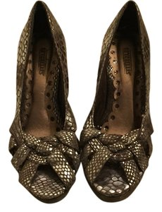 Seychelles Metallic Mermaid Fish Silver Comfortable Silver, Metallic Wedges