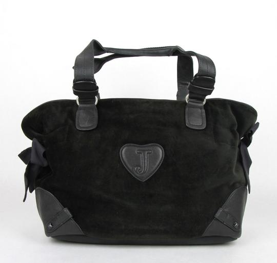 Juicy Couture Large Studs Velour Satchel in Black