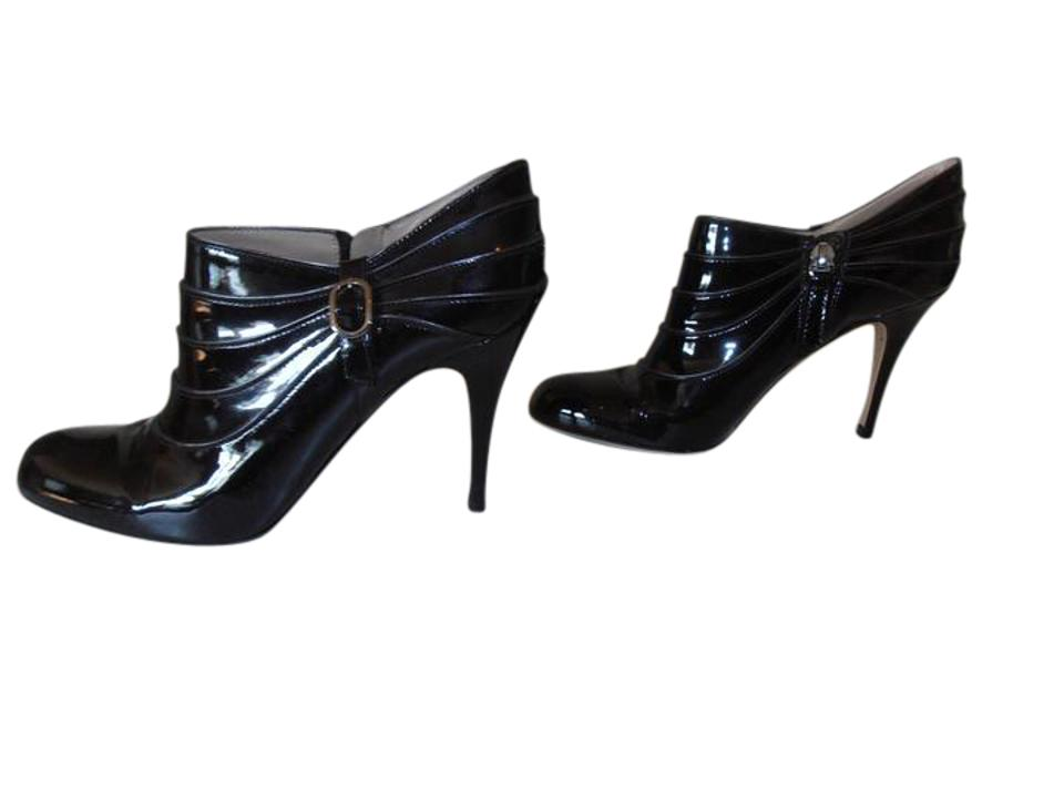 Valentino Black Patent Leather Ankle Boots/Booties 36 1/2 6 1/2 Boots/Booties Ankle fc8fd0