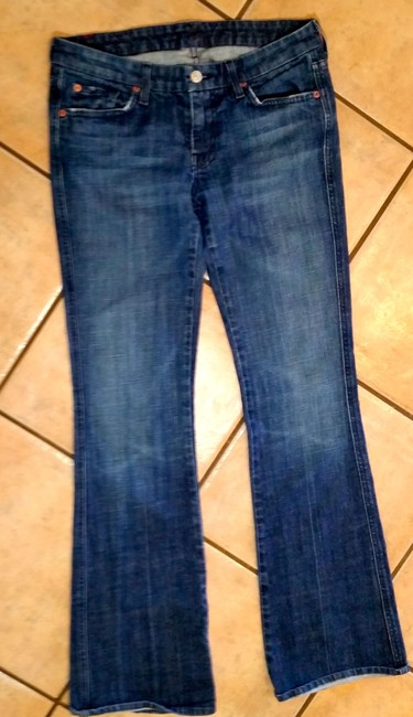 7 For All Mankind P2358 Size 29 Boot Cut Jeans-Medium Wash