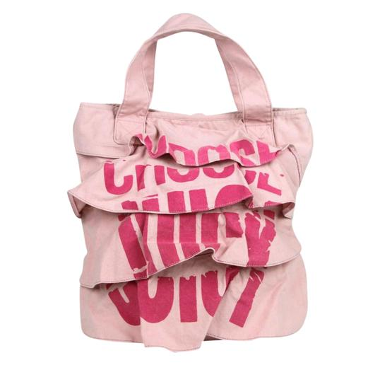 Preload https://item1.tradesy.com/images/juicy-couture-ruffled-yhru1881-700-pink-canvas-tote-21545865-0-1.jpg?width=440&height=440