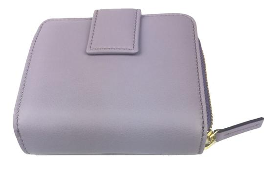 Gucci Gucci Women's Soft Calf Leather French Flap Wallet Light Purple 346056
